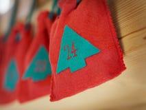 иконы элементов рождества шаржа календара пришествия приурочивают различное Стоковые Фото