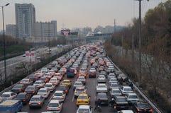 Затор движения в Тегеране Стоковая Фотография