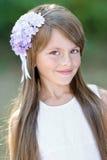 一个美丽的小女孩的画象 库存照片