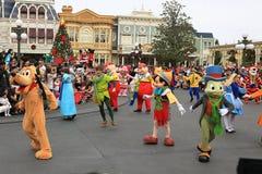 迪斯尼的圣诞节游行 免版税库存照片