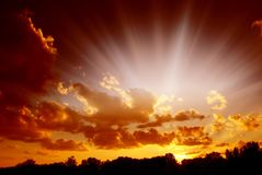 神秘的天空 免版税图库摄影