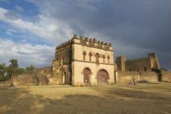 中世纪堡垒在贡德尔,埃塞俄比亚,联合国科教文组织世界遗产名录站点 免版税库存照片