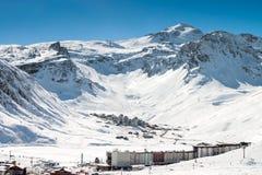 蒂涅滑雪胜地 免版税库存图片