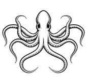 传染媒介章鱼例证 免版税库存图片