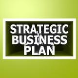 有战略意义的经营计划 库存图片