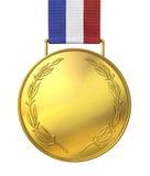 χρυσό τιμημένο μετάλλιο Στοκ Εικόνες