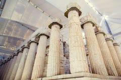 专栏古希腊亚底米神庙 免版税库存图片