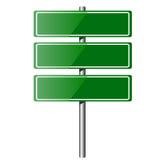 空白的绿色布告牌 图库摄影