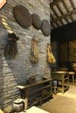 中国传统医学商店或老中国药房 库存图片
