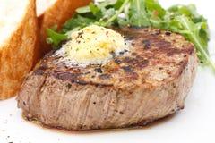 完善的烤猪里脊肉里脊肉牛排 免版税图库摄影