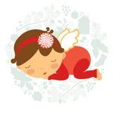 婴孩逗人喜爱女孩休眠 免版税库存照片