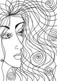 Абстрактный эскиз стороны женщины Стоковое Фото