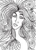 Абстрактный эскиз стороны женщины Стоковая Фотография