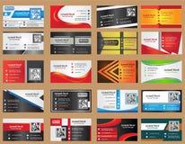 καλύτερο επαγγελματικών καρτών αρχικό διάνυσμα προτύπων τυπωμένων υλών έτοιμο Στοκ Φωτογραφίες