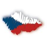 捷克映射共和国向量 图库摄影