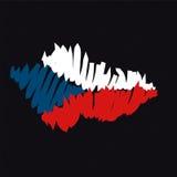 捷克映射共和国向量 库存照片