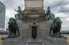 Αγάλματα στη στήλη Βρυξέλλες συνεδρίων Στοκ εικόνα με δικαίωμα ελεύθερης χρήσης