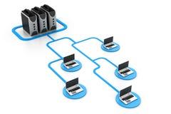 компьютерная сеть обеспеченная Стоковое Изображение RF
