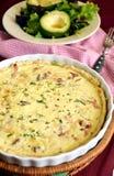 Γαλλικό παραδοσιακό πίτα Λωρραίνη Στοκ Εικόνες