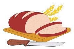 ψωμί που τεμαχίζεται Στοκ φωτογραφία με δικαίωμα ελεύθερης χρήσης