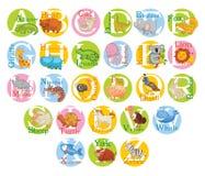逗人喜爱的动物字母表 集合 免版税库存照片