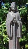 雕象在庭院-雅典,希腊里 库存照片