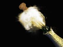 与飞溅香槟的庆祝题材, 图库摄影