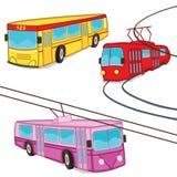 无轨电车被隔绝的电车公共汽车 免版税库存图片