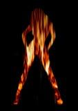 пожар танцора Стоковая Фотография RF