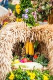 Ανθοδέσμη φθινοπώρου με το καλαμπόκι Στοκ Φωτογραφία