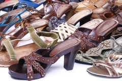 女性鞋类 免版税图库摄影