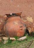 黏土瓶子 库存图片