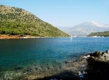 海岸线横向地中海火鸡 免版税图库摄影