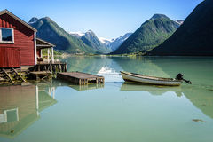 Отражение фьорда Норвегии Стоковое Изображение RF