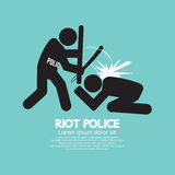 防暴警察染黑标志 库存图片