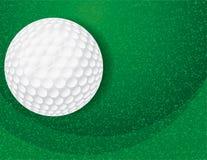 Шар для игры в гольф на текстурированной зеленой иллюстрации Стоковая Фотография RF