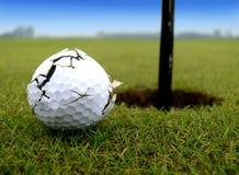 吹动推进高尔夫球 图库摄影