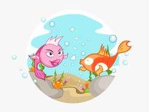 Счастливое торжество дня валентинки с парами рыб Стоковые Фото