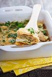 素食夏南瓜和乳清干酪烘烤 免版税库存照片