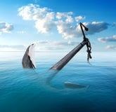 Άγκυρα στη θάλασσα Στοκ εικόνα με δικαίωμα ελεύθερης χρήσης