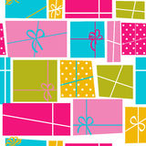 Предпосылка картины праздника подарочной коробки безшовная Стоковые Фото