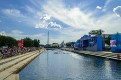城市天庆祝在叶卡捷琳堡 免版税库存照片