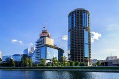 商业中心叶卡捷琳堡城市的看法 免版税库存照片