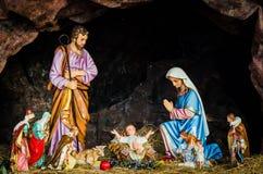圣洁家庭,圣诞节,诞生 库存照片