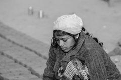 女性劳方,印度 免版税图库摄影