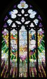 教会窗口圣大卫的大教堂霍巴特,塔斯马尼亚岛 免版税图库摄影