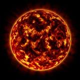 планета померанца пожара Стоковое Изображение