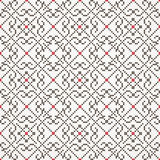 传统被绣的无缝的样式 向量 库存图片