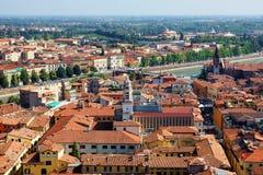 维罗纳全景在意大利 免版税图库摄影