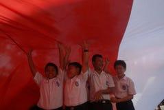访问印度尼西亚的北朝鲜的领导 免版税库存照片